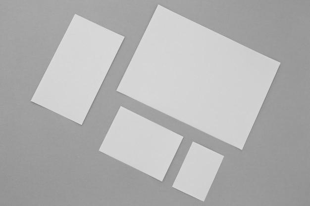 Top view paper sheets arrangement