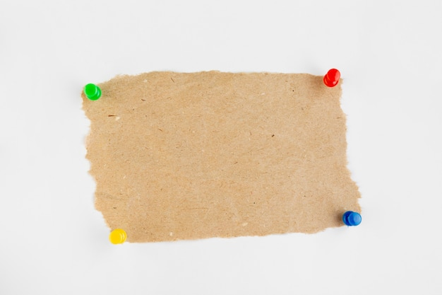 Top view paper with pins