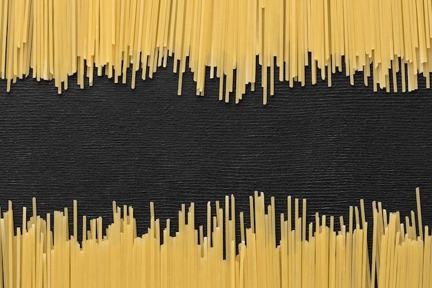 Рамка для макарон, вид сверху с копией пространства