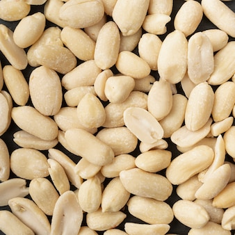 Top view of peanuts