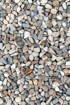 Top view pebbles arragement