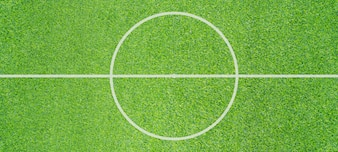 Top view photo of Soccer field texture background