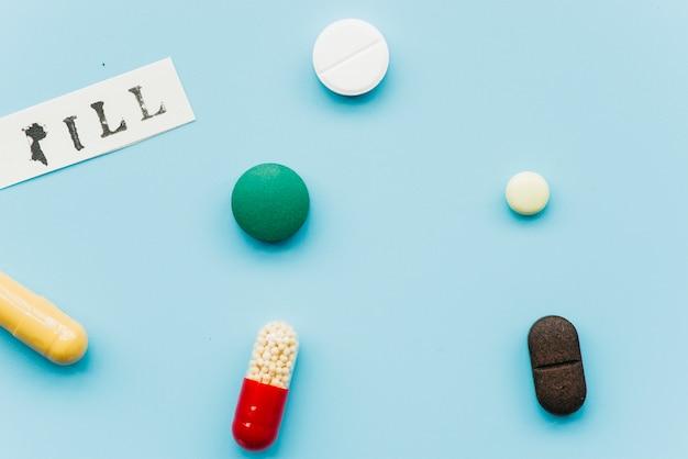 Top view pills