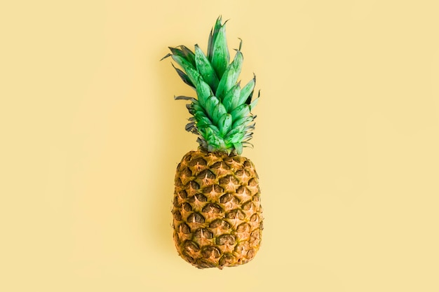 Top view pineapple