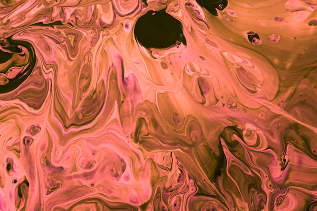 Top view pink paint mix