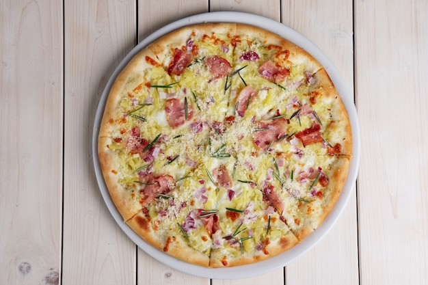 Top view of pizza