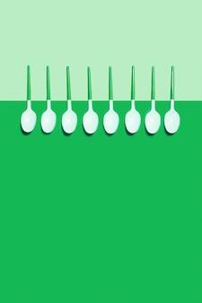 上面図プラスチックスプーン
