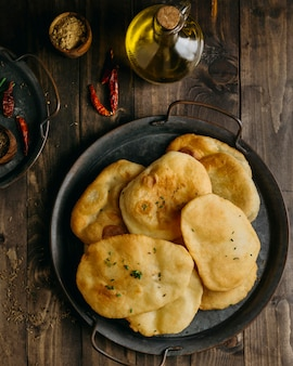パキスタン料理のトップビュープレート