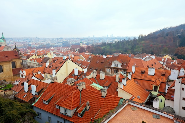 Top view of  prague