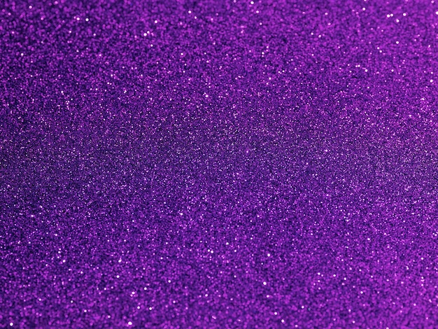 Top view purple glitter background