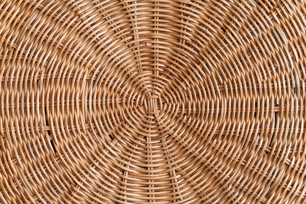 Top view of rattan concentric pattern