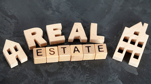 Top view real estate lettering
