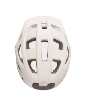 Top view of red helmet for bicycle roller skates skateboard etc