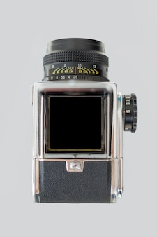 Top view of retro camera
