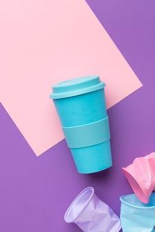 테이블에 상위 뷰 재사용 가능한 컵