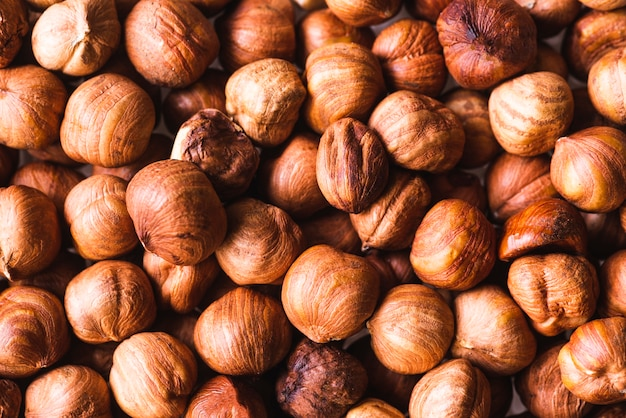 Top view roasted chestnuts background