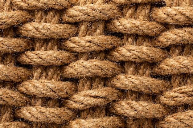 Composizione della trama della corda vista dall'alto