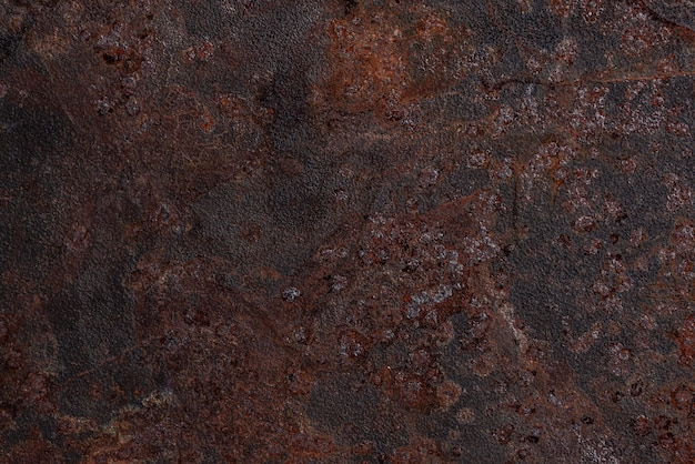 Top view of rusty metal surface