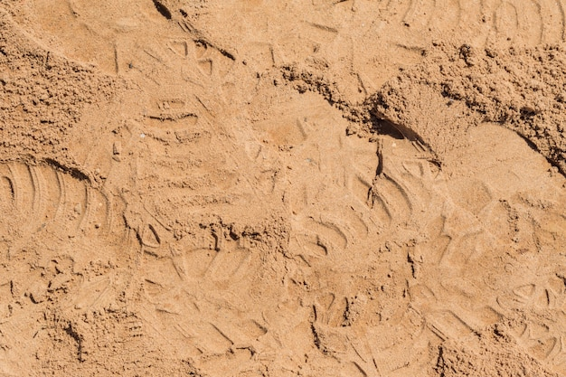 Top view of sand surface for background