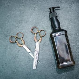 Top view scissors and dispenser