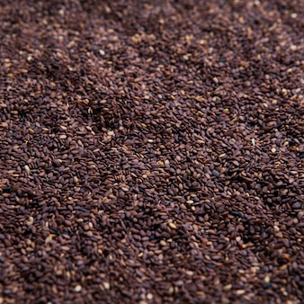 Top view sesame seeds texture background