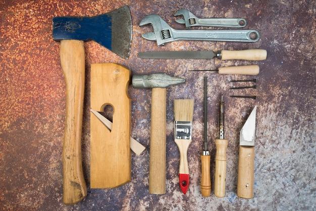 Top view set of tools