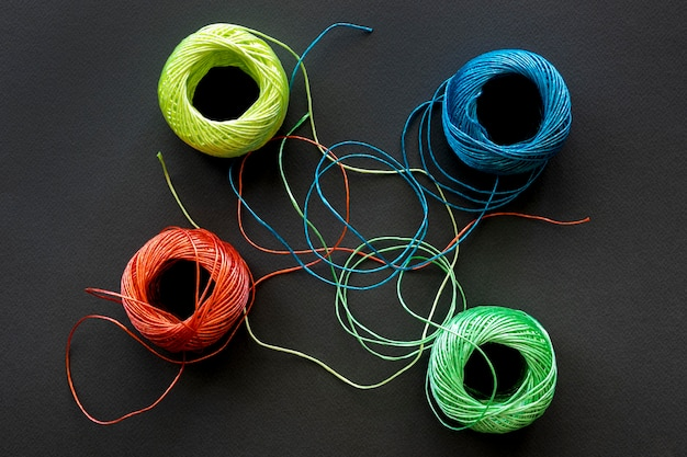 Top view sewing thread