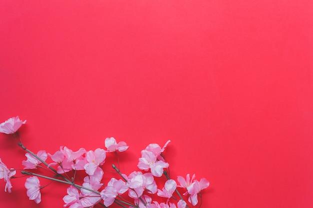 アレンジメント装飾中国の新年と月の祭典のコンセプト背景のトップビューショット。