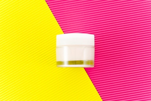 Top view skin care cream