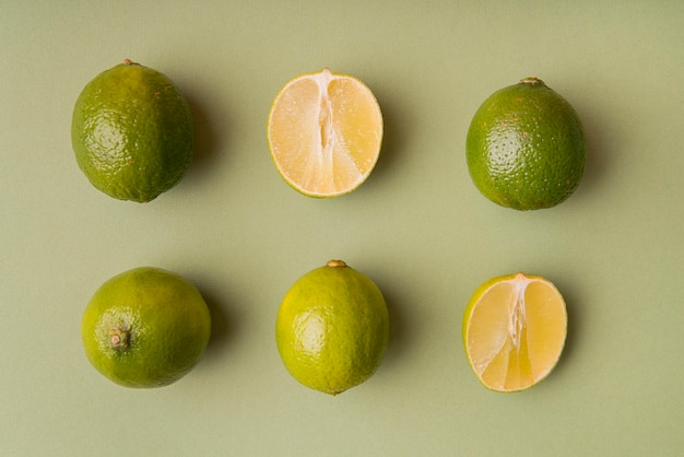 Top view sliced limes
