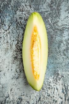 Top view sliced melon on the dark-light table sweet fruit summer mellow
