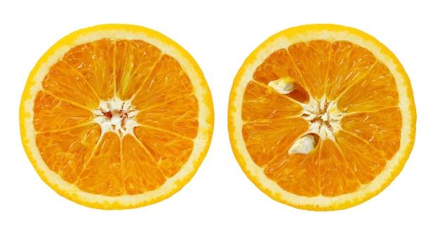 Top view of slices of orange