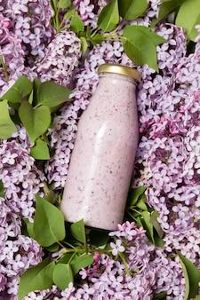 花のトップビュースムージーボトル