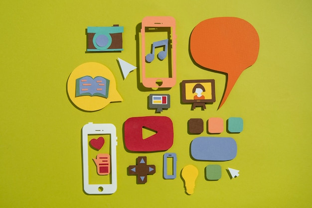 トップビューソーシャルメディアの概念