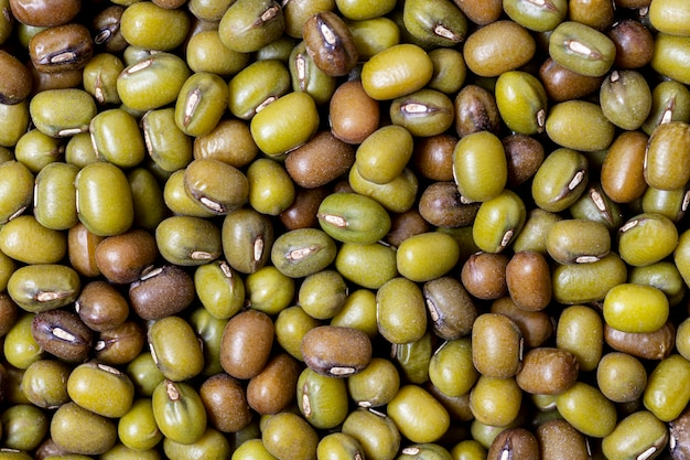Top view of sprouted olives