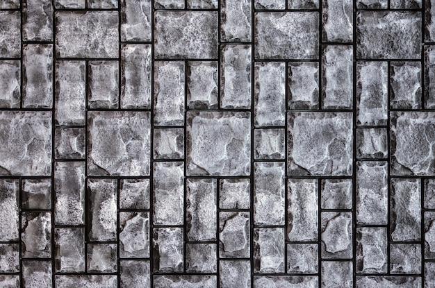 Вид сверху текстуры каменной плитки
