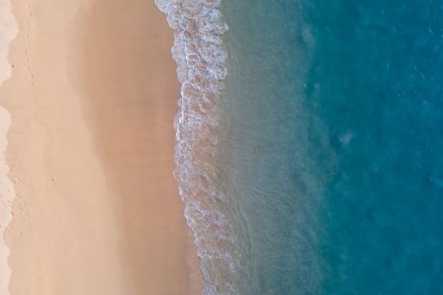 Top view summer beach sea.