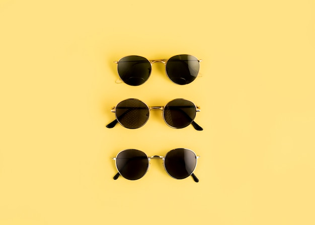 Top view sunglasses line