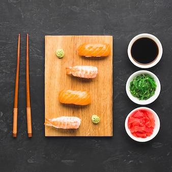 トップビュー寿司アレンジメント