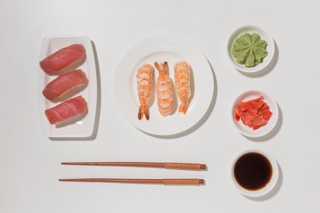 醤油とトップビュー寿司日コンセプト