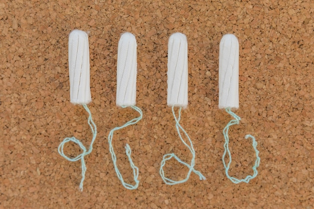 Top view tampon line