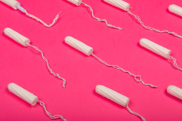 Top view tampon pattern