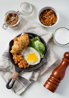 提供する準備ができておいしい朝食