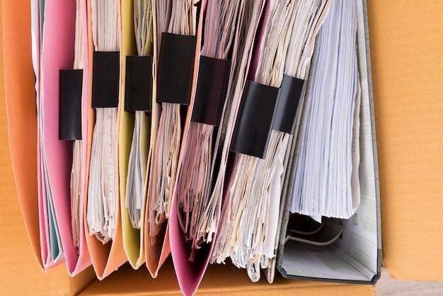 トップビューでは、ドキュメントとファイルはブラウンボックスに配置されます