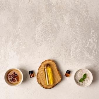 Top view therapeutic spa arrangement