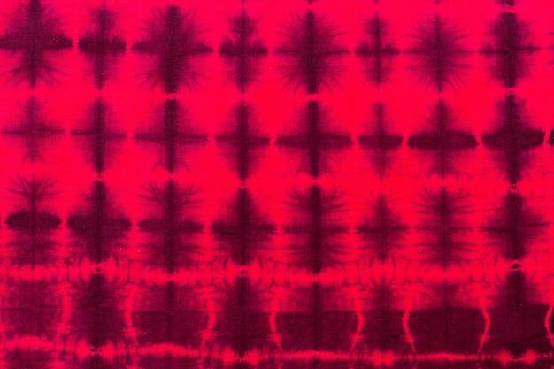 Vista dall'alto del tessuto tie-dye