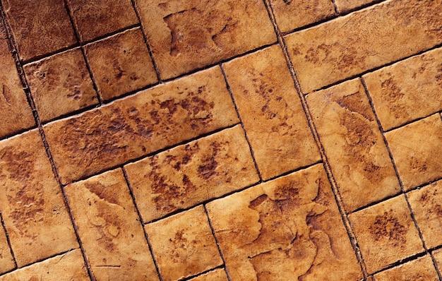 Top view of tile floor footpath
