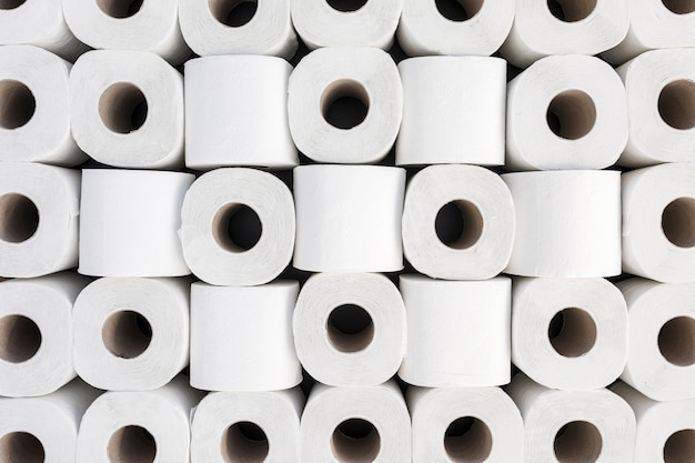 Top view toilet paper rolls shape