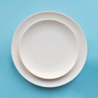 Top view of two simple plates