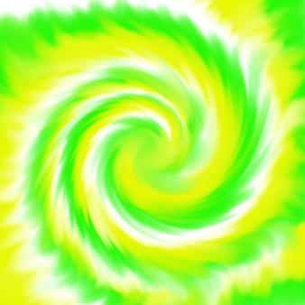 Top view tye dye yellow green white spiral